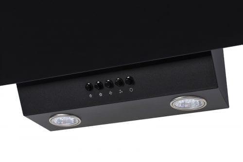 SIA EAG61BL Black 60cm Angled Glass Chimney Cooker Hood Kitchen & Carbon Filter