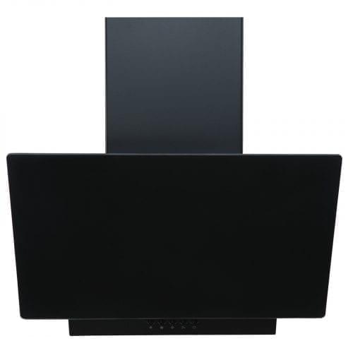 SIA EAG71BL Black 70cm Angled Glass Chimney Cooker Hood Kitchen & 1m Ducting Kit