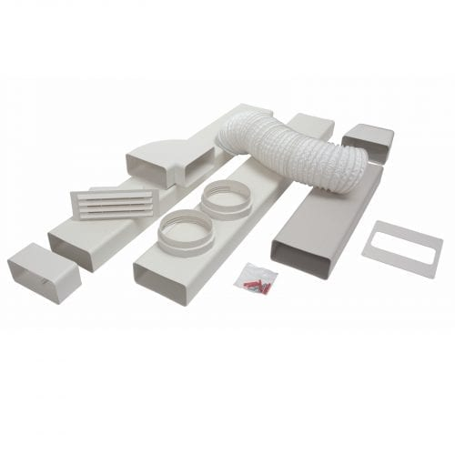 CDA AED54 Universal 125mm x 3m Cooker Hood Rigid Ducting Kit