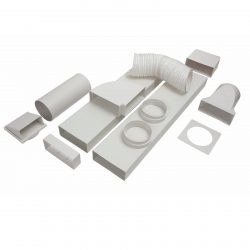 CDA AED64 Universal Kitchen Cooker Extractor Fan Rigid Ducting Kit 150mm x 3m
