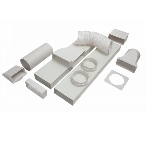 CDA AED64 Universal 3m x 150mm Cooker Hood Rigid Ducting Kit