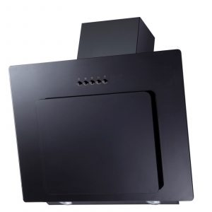 SIA AGL61BL 60cm Black Angled Chimney Cooker Hood Kitchen Extractor Fan