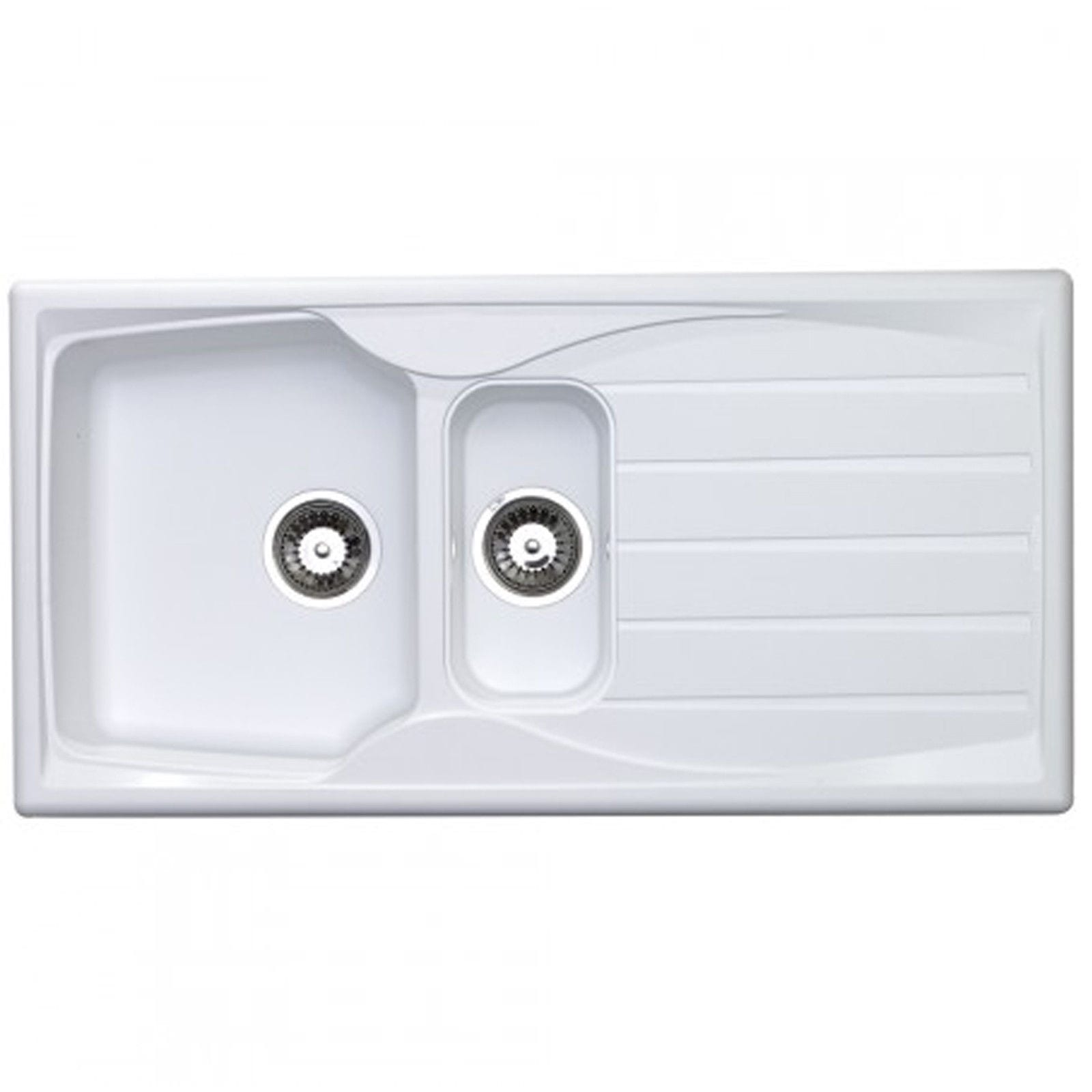 Astracast sierra 1 5 bowl teflite reversible white kitchen sink and waste kit at ship it appliances