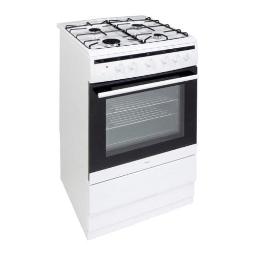 Amica 608GG5MSW 60cm Freestanding White Gas Single Oven Cooker A Energy Rating