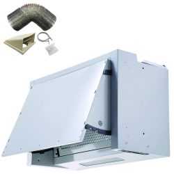 SIA BIE60SI 60cm Silver Integrated Built In Cooker Hood Fan And 1m Ducting