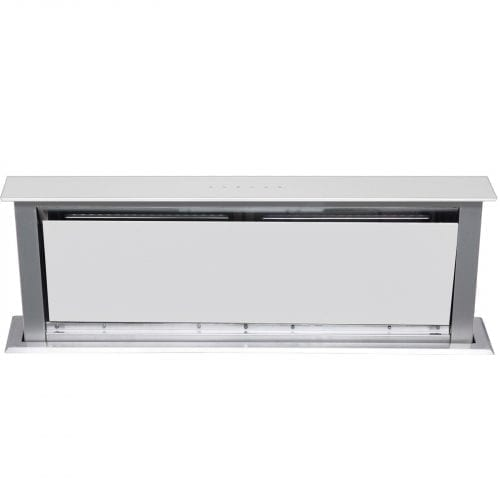 SIA White 90cm Touch Control Downdraft Cooker Hood Extractor Fan and 3m Ducting