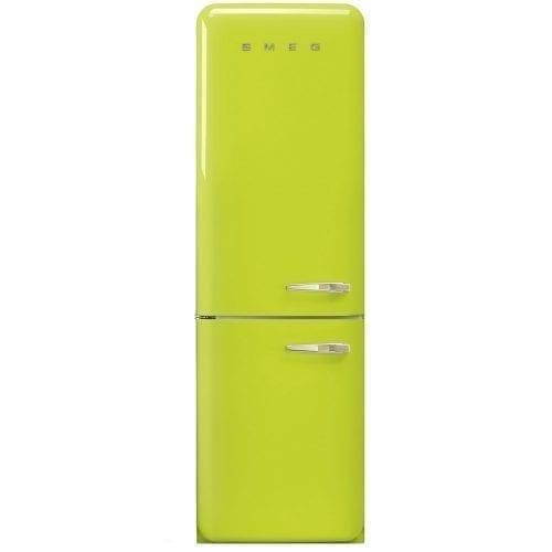 Smeg FAB32LNL 50's Style 'No Frost' Freestanding Fridge-freezer Lime Green