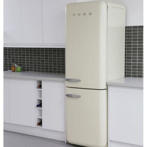 Smeg FAB32RNC 50's Retro Style Freestanding Fridge Freezer In Cream