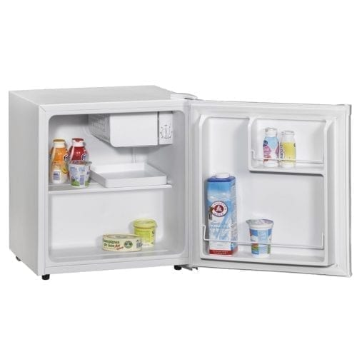 Amica FM0613 Table Top Compact Fridge With Ice Box In White | A+ Rated