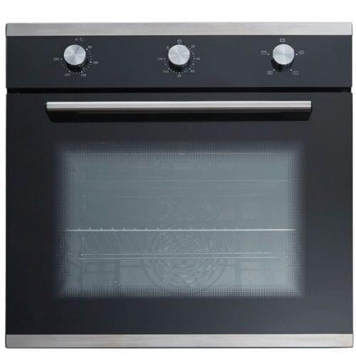 SIA 70cm Black Cooker Hood, 5 Burner Black Gas Hob & Electric Single Fan Oven
