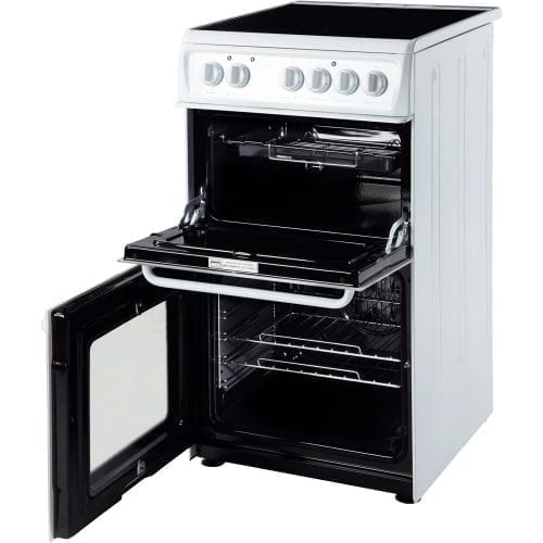 Hotpoint HAE51P S 50cm Freestanding White Ceramic Twin Cavity Double Oven