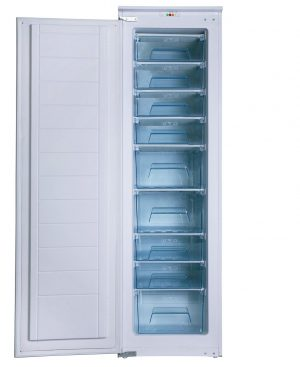 SIA 54cm White Fully Integrated Tall Freezer & Larder Fridge Twin Pack A+ Rating