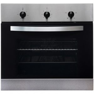 SIA 60cm Stainless Steel Single Electric Fan Oven & 4 Burner Gas Hob Wok Burner