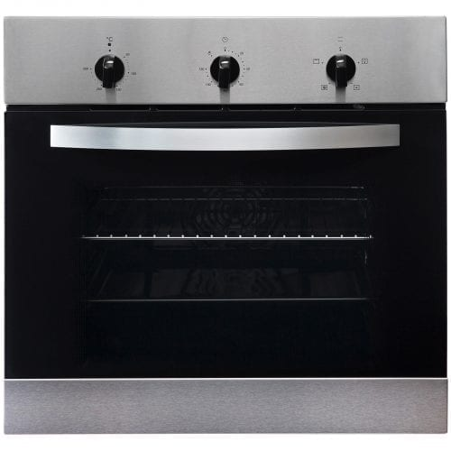 SIA SO111SS 60cm Single Electric Fan Oven and Stainless Steel 4 Burner Gas Hob