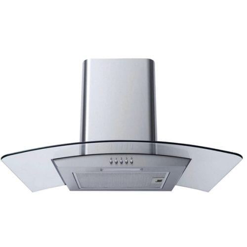 SIA 70cm Curved Glass Stainless Steel Cooker Hood & 70cm 5 Burner Gas Hob
