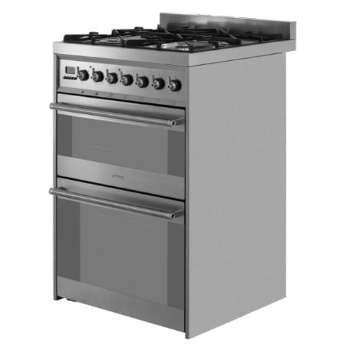 Smeg SY62MX8 60cm Symphony Cooker with Double Oven and Gas hob, St/Steel