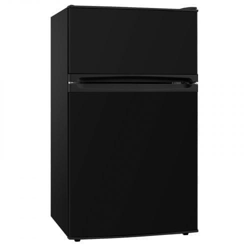 SIA UFF01BL 92L Freestanding Black Under Counter 2 Door Fridge Freezer A+ Energy