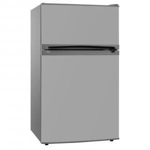 SIA UFF01SS 93L Silver/Grey Freestanding Under Counter Fridge Freezer A+ Energy