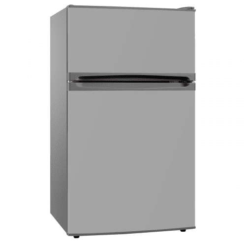 SIA UFF01SS 92L Freestanding Silver / Grey Under Counter 2 Door Fridge Freezer