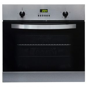 SIA 60cm Single Electric Fan Oven, 4 Zone Plate Hob And Curved Glass Cooker Hood