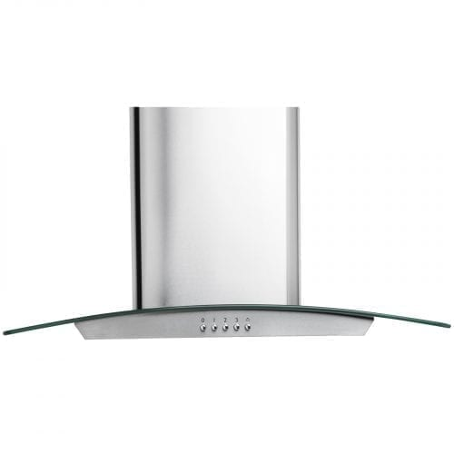 SIA CP61SS 60cm Curved Glass Stainless Steel Cooker Hood Extractor + 3m Ducting