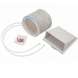 CDA AED61 Universal 1m x 150mm Cooker Hood Flexible Ducting Kit