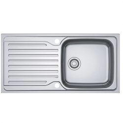 Franke Antea AZN 611-100 Stainless Steel 1.0 Large Bowl Reversible Kitchen Sink