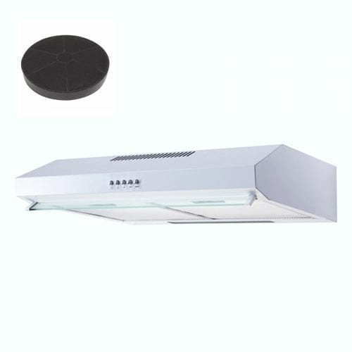 SIA V50WH 50cm White Slimline Visor Cooker Hood Extractor Fan And Carbon Filter
