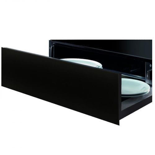 SIA WD01 14cm High Push-Push Integrated 21L Kitchen Warming Drawer In Black