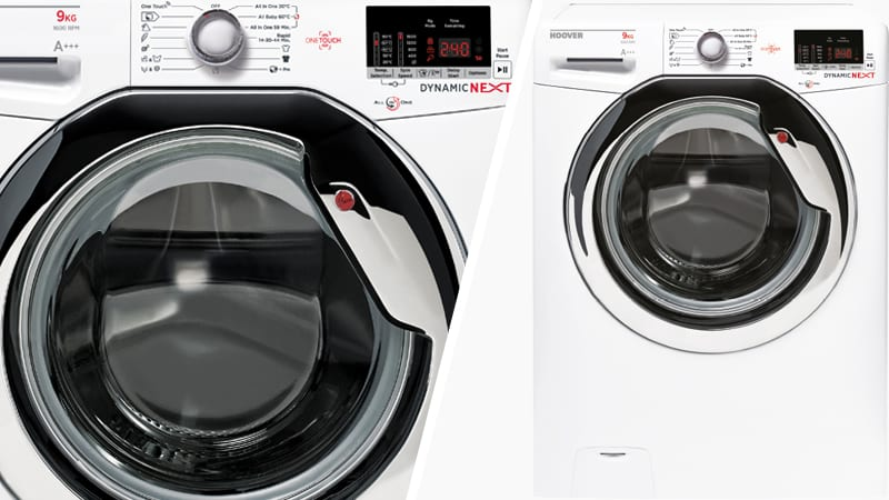 Hoover DXOC510C3 Dynamic 10kg 1500rpm White Front Loading Washing Machine A+++