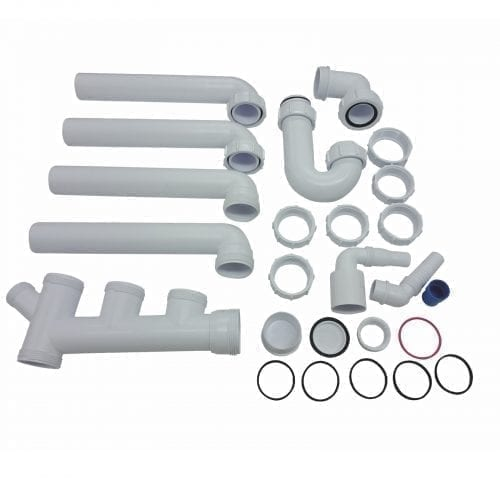 CDA PP2 Space Saver Plumbing Pack For CDA 1.5 Bowl Kitchen Sinks