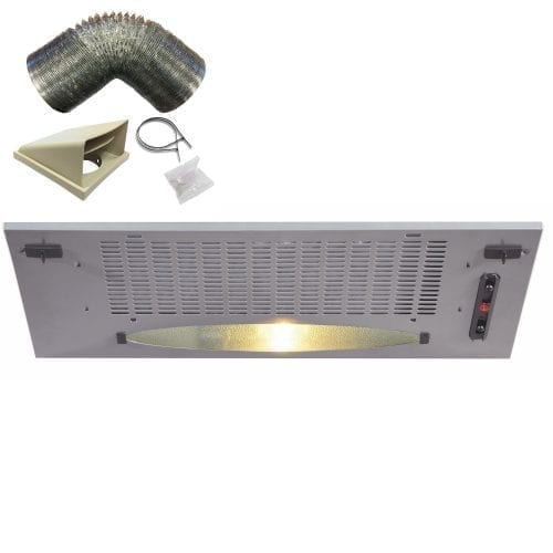 CDA CCA5SI 50cm Under Canopy Cooker Hood Extractor Fan In Silver + 1m Ducting