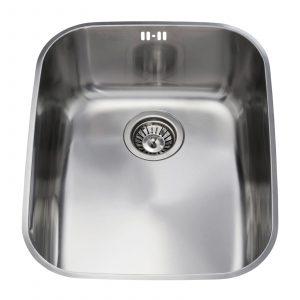 CDA KCC24SS 60cm Polished Stainless Steel Undermount Rectangular 1.0 Bowl Sink