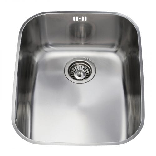 CDA KCC24SS 60cm Polished Stainless Steel Undermount Rectangular 1.0 Bowl Sink