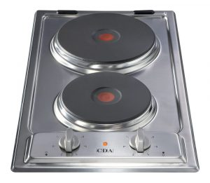 CDA HCE340 28cm Domino Two Plate Electric Hob in Stainless Steel