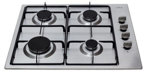 CDA HG6150SS 60cm 4 Burner Side Control Gas Hob in Stainless Steel + LPG Kit