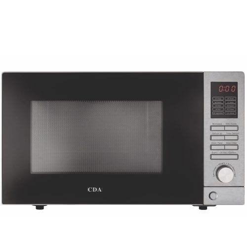 CDA VM200SS Freestanding Microwave Oven and Grill in Stainless Steel & Black