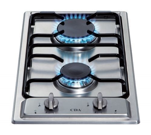 CDA HCG301 Two Burner Domino Gas Hob in Stainless Steel