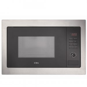 CDA VM130SS 25L Stainless Steel & Black Integrated Built In 900W Microwave Oven