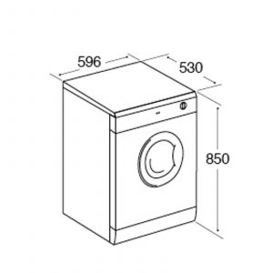 CDA CI522WH Free Standing 7Kg Vented Tumble Dryer In White