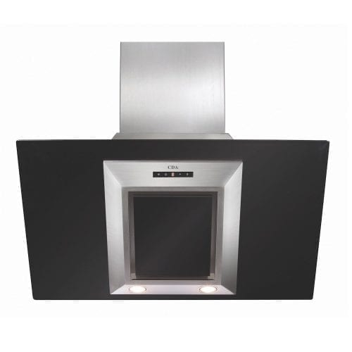 CDA EVG9BL 90cm Designer Angled Cooker Hood Extractor Fan In Black