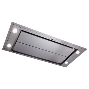CDA EVX101SS 100cm Stainless Steel Ceiling Kitchen Cooker Hood Extractor Fan