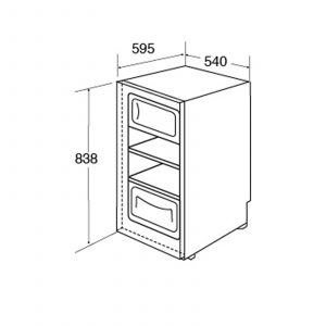 CDA FF181WH 54cm 80L Freestanding Under Counter Freezer In White | A+ Rating
