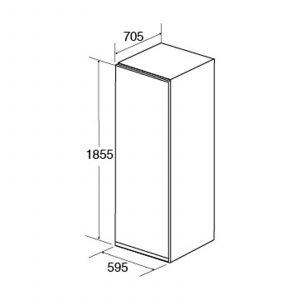 CDA FF880SC 60cm 260L Freestanding Full Height Frost Free Freezer | A++ Rating