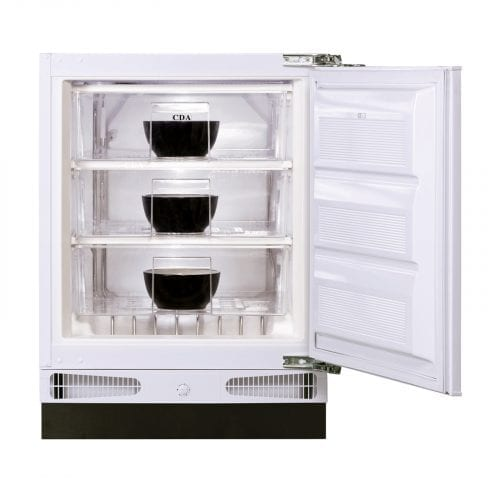 CDA FW283 60cm 93L Integrated/Under Counter White Freezer | A+ Rating