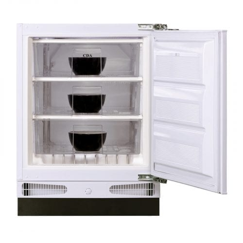 CDA FW381 60cm 93L Integrated/Under Counter White Freezer | A+ Rating