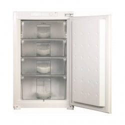 CDA FW482 60cm 99L Integrated In-Column White Fixed Hinge Freezer | A+ Rating