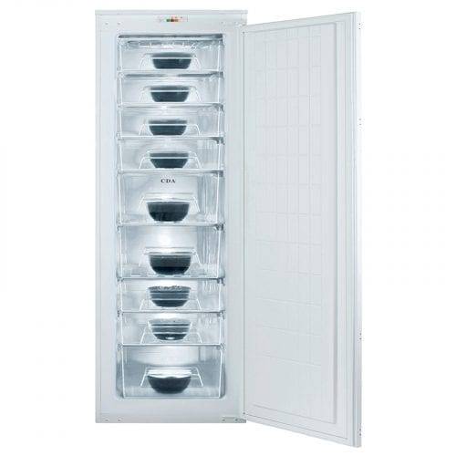 CDA FW881 60cm 226L Integrated White Full Height Freezer | A+ Rating