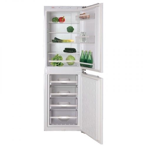 CDA FW951 Integrated 50>>50 Combi Frost Free Reversible White Fridge Freezer