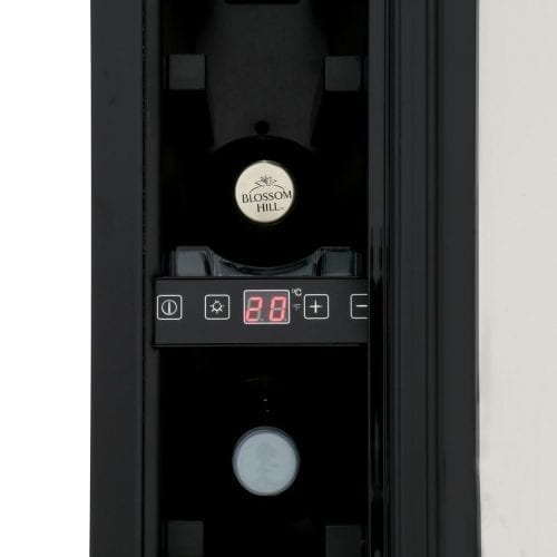 CDA FWC152BL 15cm Free Standing Under Counter Slimline Wine Cooler in Black